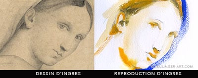 aquarelle ingres-reproduction