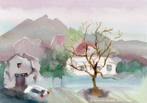 aquarelle maisons-21x29-sonabia-17