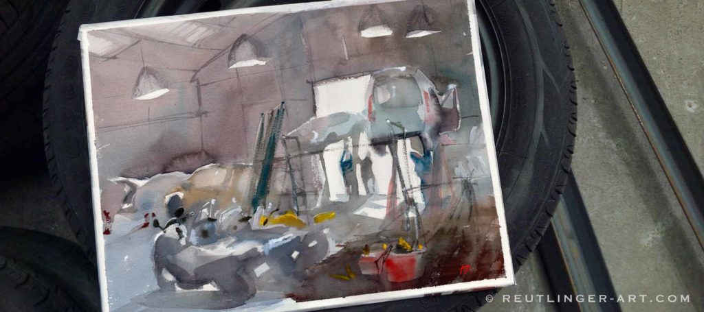 aquarelle-de-garage-antibes