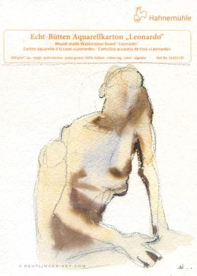 aquarelle de modèle vivant sur un échantillon de papier