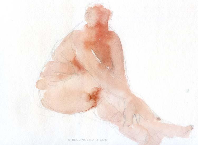 tableau nu artistique femme assise