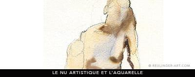 aquarelle de nu artistique