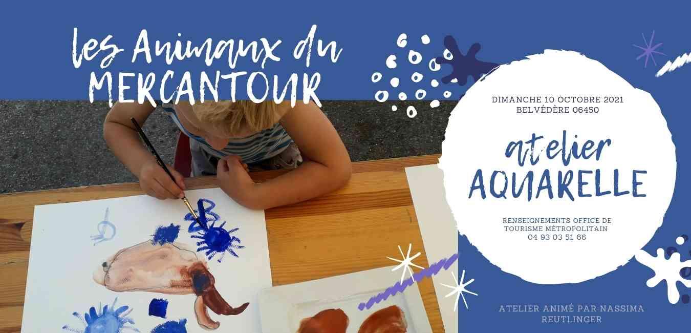 atelier enfants aquarelle