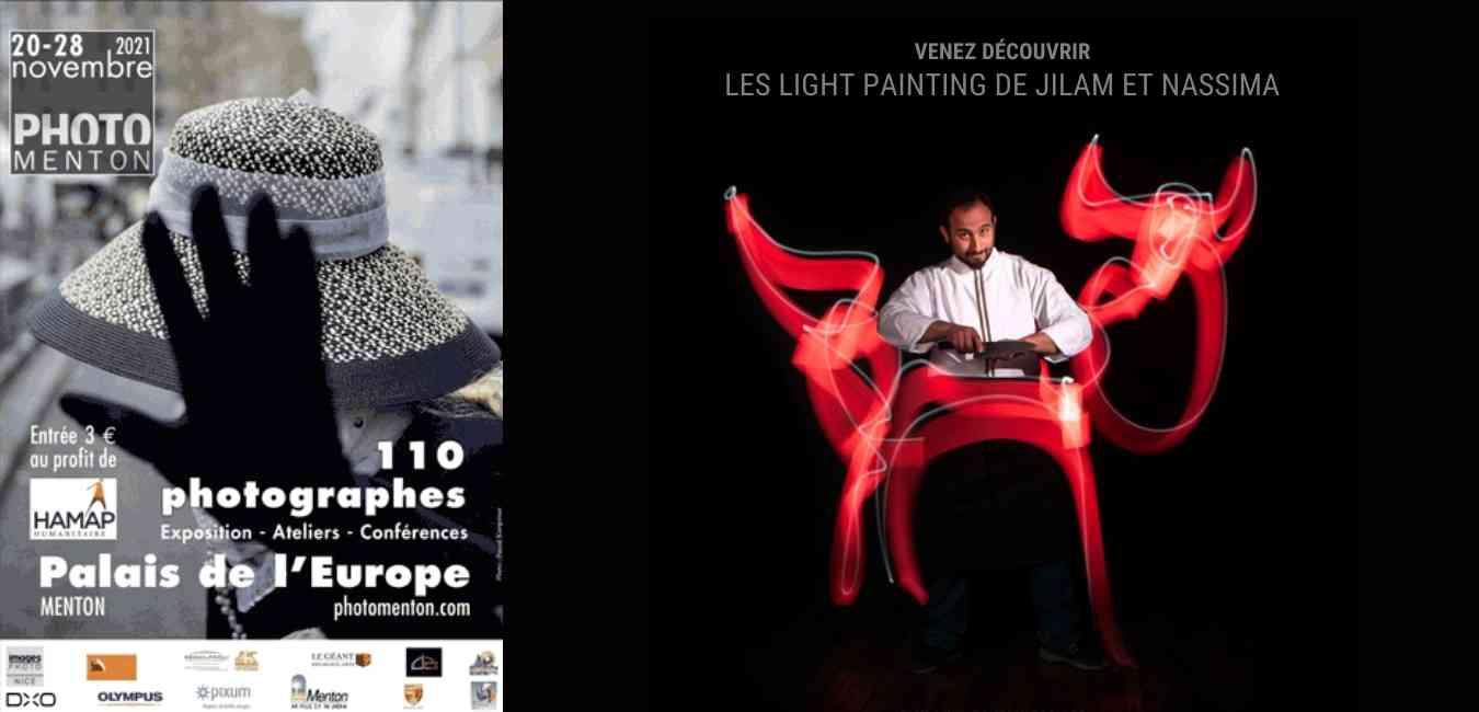 exposition festival PhotoMenton 2021 light painting